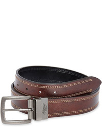 Dickies Reversible Leather Contrast Stitch Belt