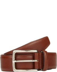 Barneys New York Saffiano Leather Belt Brown Size 30