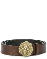 Saint Laurent Lion Buckle Belt
