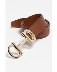 Salvatore Ferragamo Leather Belt Brown 36