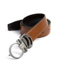 Salvatore Ferragamo Reversible Leather Belt Brown Black 36