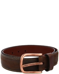 Torino Leather Co. Sanded Leather Belt Wcopper Buckle Apparel
