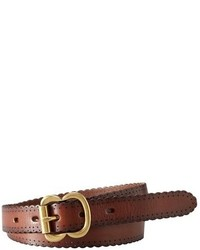 Scallop edge leather belt medium 143225