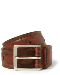 Paul Smith Shoes Accessories Brown 35cm Burnished Leather Belt