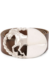 Silver horse buckle belt medium 3762161