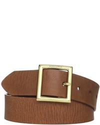Tommy Hilfiger Square Buckle Wide Brown Leather Belt