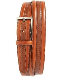 Canali Stamped Leather Belt
