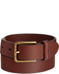 Tommy Hilfiger Stitched Loop Brown Belt