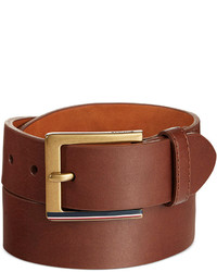 Tommy Hilfiger Striped Buckle Brown Belt
