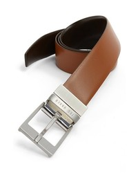 Ted baker london reversible leather belt tan dark brown 36 medium 169731