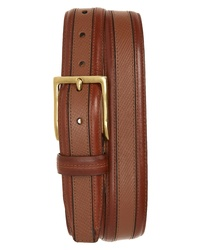 Cole Haan Textured Inlay Leather Belt
