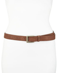 Brunello Cucinelli Textured Leather Belt Brown