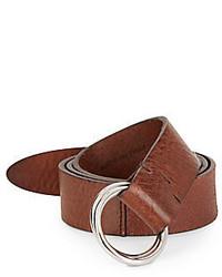 Brunello Cucinelli Textured Leather D Ring Belt