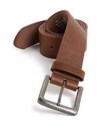 Topman Faux Leather Belt Brown Smallmedium