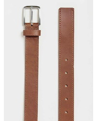 Topman Tan Leather Belt