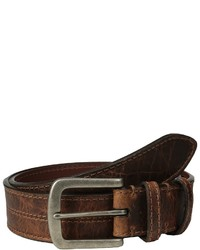 Torino Leather Co. Waxed Shrunken Bison Belts