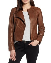 Collarless leather jacket medium 8681491
