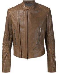 Haider Ackermann Ribbed Sleeve Biker Jacket