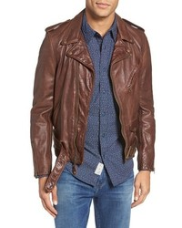 Hand vintaged cowhide leather motocycle jacket medium 3751142