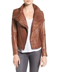 Lamarque funnel neck moto jacket medium 1291374