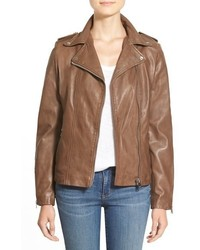 Lamarque terri lambskin leather moto jacket medium 532936