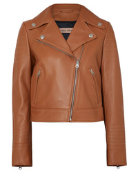 Yves Salomon Leather Biker Jacket