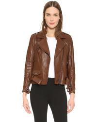 Leather moto jacket medium 529437