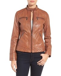 Leather moto jacket medium 951986