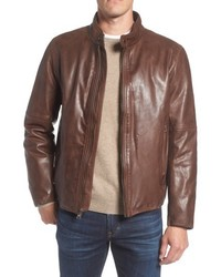 Andrew Marc Marc New York Calfskin Leather Moto Jacket