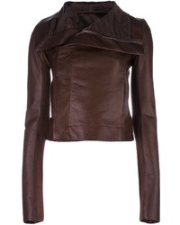 Rick Owens Draped Collar Biker Jacket