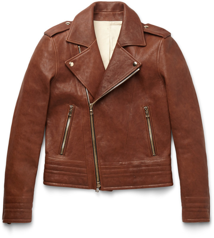 Balmain Slim Fit Leather Biker Jacket | Where to buy & how to wear