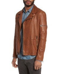 John Varvatos Star Usa Leather Moto Jacket