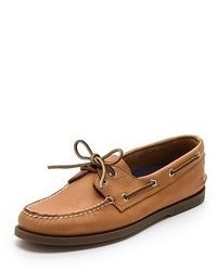 Ao classic boat shoes on brown sole medium 54798