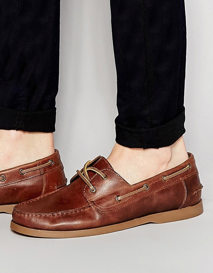 ASOS Boat Shoes In Leather XgenV1