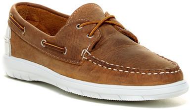0cd07974ac7e ... Brown Leather Boat Shoes Allen Edmonds By Lake Dota Boat Shoe Wide  Width ...