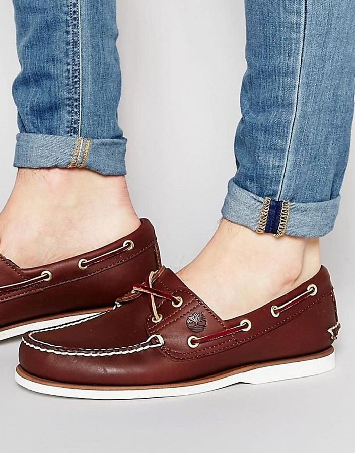 c65f4c104 ... Brown Leather Boat Shoes Timberland Classic Leather Boat Shoes ...