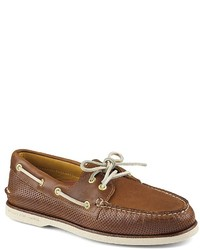 Sperry Gold Ao 2 Eye Perforated Boat Shoes