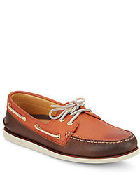 Sperry Gold Ao Two Tone Leather Boat Shoes