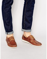Selected Homme Pelle Leather Boat Shoes
