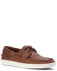 d87c852b Men's Leather Boat Shoes by Lacoste | Men's Fashion | Lookastic.com