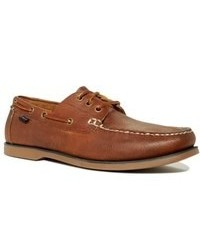 Ralph Lauren Polo Bienne Tumbled Leather Boat Shoes Shoes