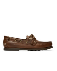 Polo Ralph Lauren Tan Merton Boat Shoes