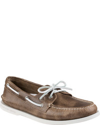 Sperry Top Sider Ao 2 Eye White Cap Leather Boat Shoe
