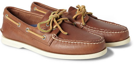 df9b17e97fda ... Sperry Top Sider Authentic Original Two Eye Leather Boat Shoes ...