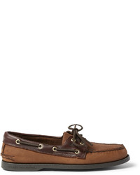 Sperry Top Sider Leather Trimmed Nubuck Boat Shoes