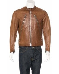 Maison Margiela 2001 Five Zip Leather Moto Jacket