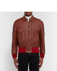Calvin Klein 205w39nyc Shearling Lined Leather Jacket