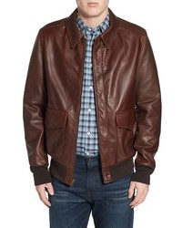 A 2 pebbled leather bomber jacket medium 588639