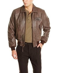 Alpha Industries Leather Cwu 45p Bomber Jacket