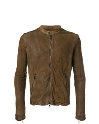 Giorgio Brato Banded Neck Leather Jacket